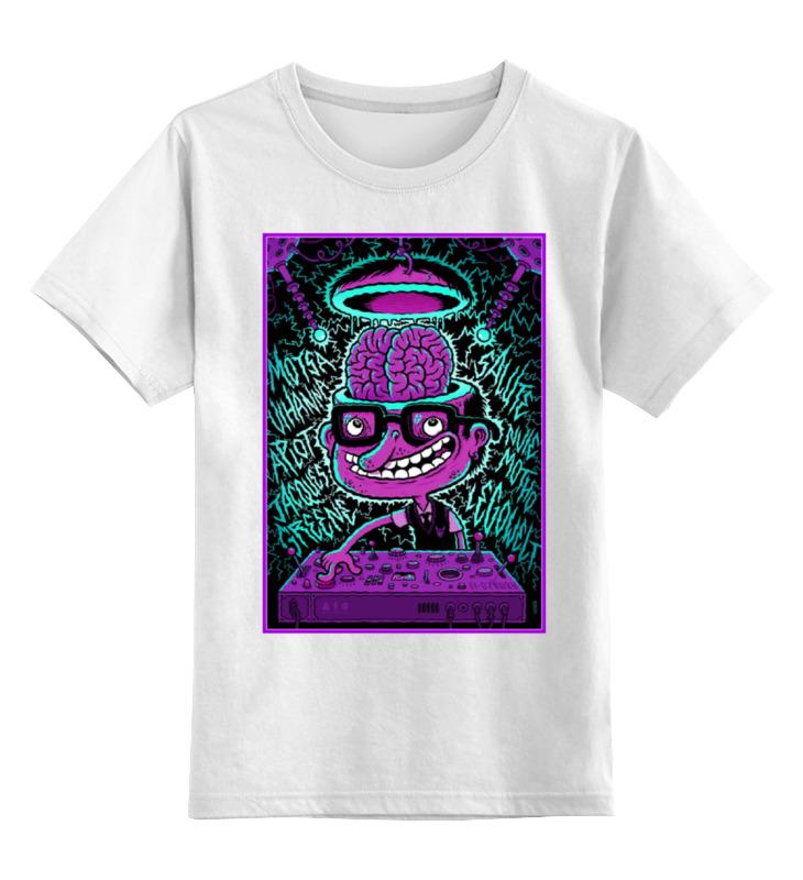 Детская футболка классическая унисекс Printio Crazy dj футболка классическая printio crazy artist
