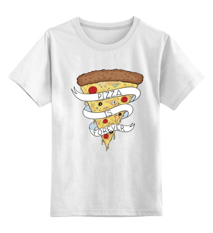 Детская футболка классическая унисекс Printio Пицца навсегда (pizza forever) цена
