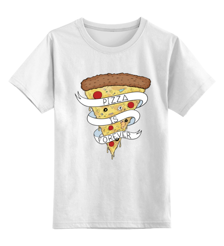 Детская футболка классическая унисекс Printio Пицца навсегда (pizza forever) пицца pizza 8
