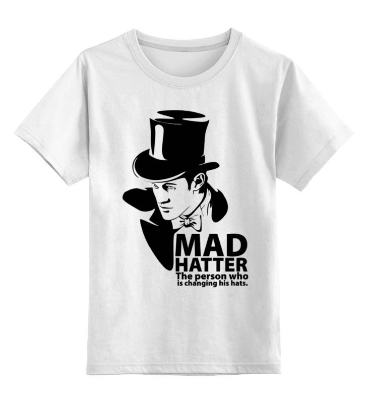 Детская футболка классическая унисекс Printio Mad hatter (doctor who) футболка рингер printio доктор кто doctor who