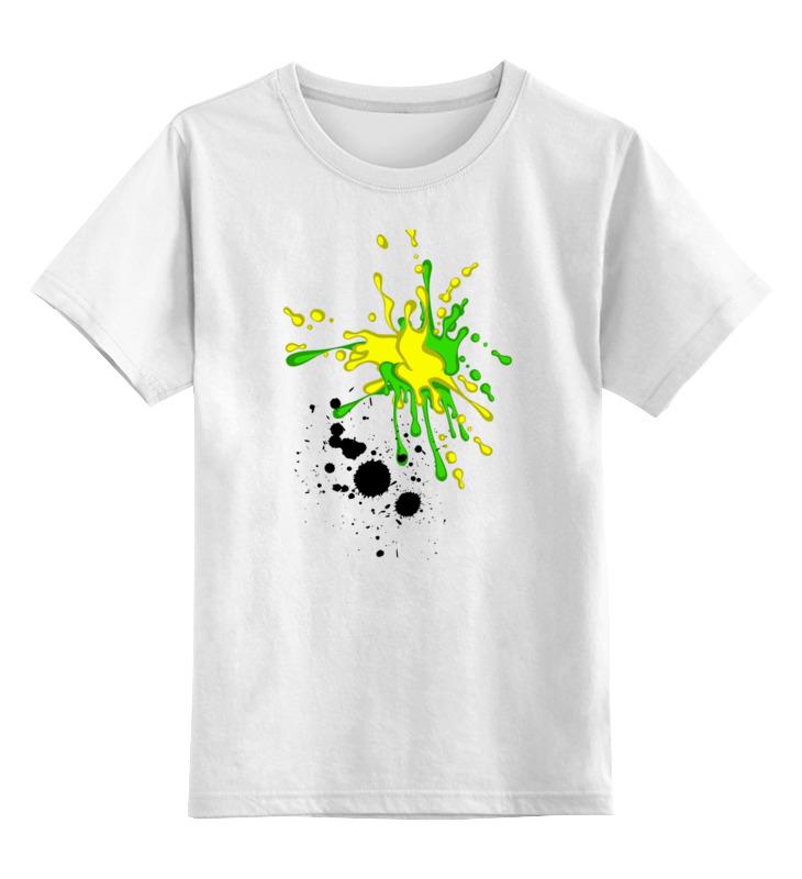 Детская футболка классическая унисекс Printio Творческие кляксы супермамкет конверт с ручками кляксы на флисе бирюзовый