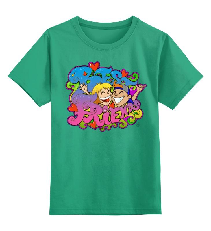 Детская футболка классическая унисекс Printio Лучшие друзья цена