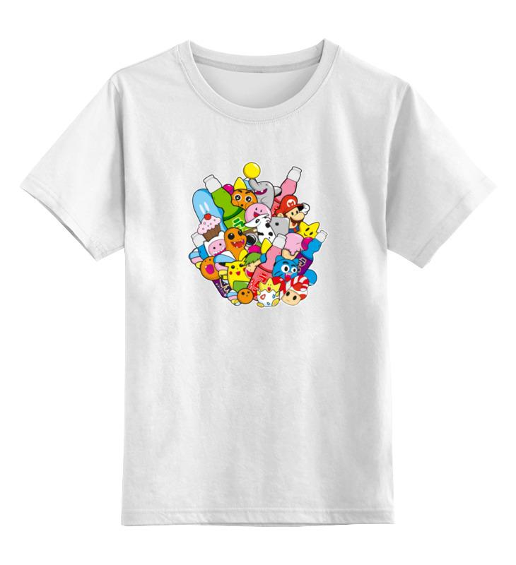 Детская футболка классическая унисекс Printio Покемоны и марио лонгслив printio покемоны и марио