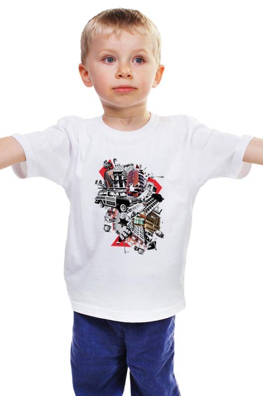 Детская футболка классическая унисекс Printio Мусорный ветер падение сквозь ветер