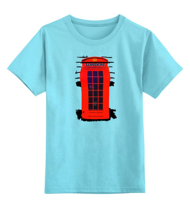 Детская футболка классическая унисекс Printio London phone booth майка классическая printio london