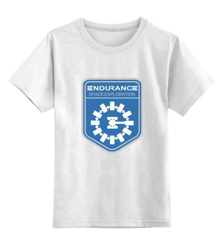 Детская футболка классическая унисекс Printio Endurance (interstellar) crew neck color block striped sweater