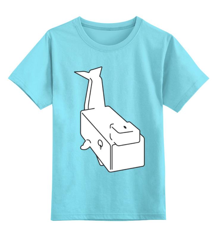 Детская футболка классическая унисекс Printio Моби дик (белый кит) футболка рингер printio дик трэйси