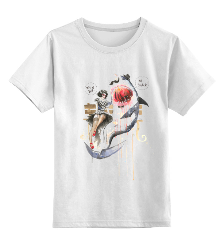 Детская футболка классическая унисекс Printio Mr. shark детская кожаная обувь mr baby wa15 096 mr baby2015
