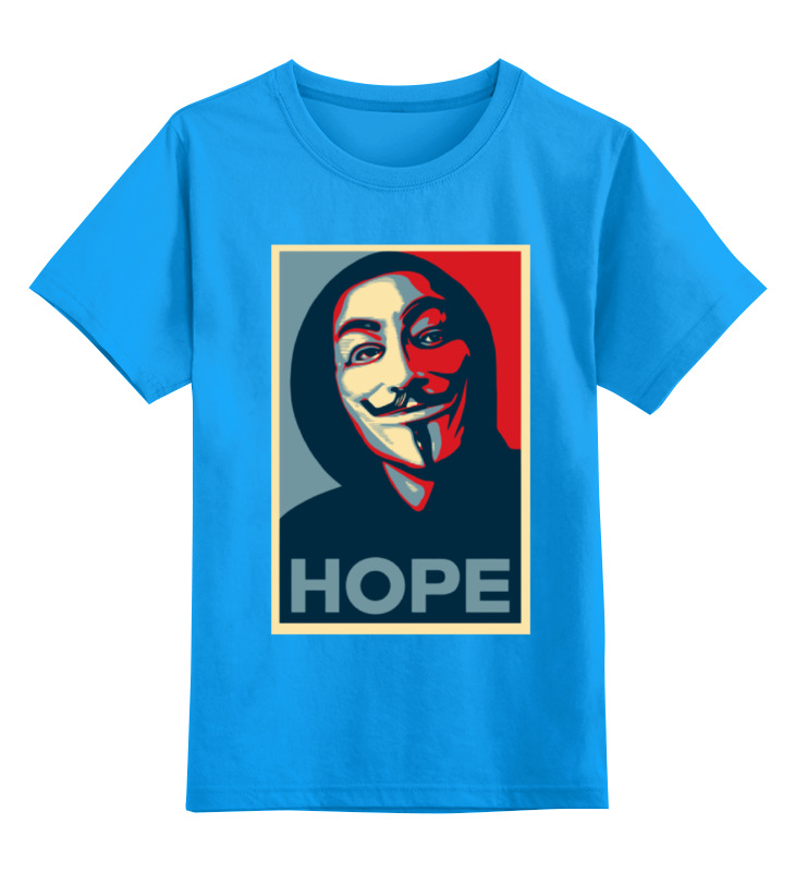 Детская футболка классическая унисекс Printio Anonimus (obey) anonymous celebrity
