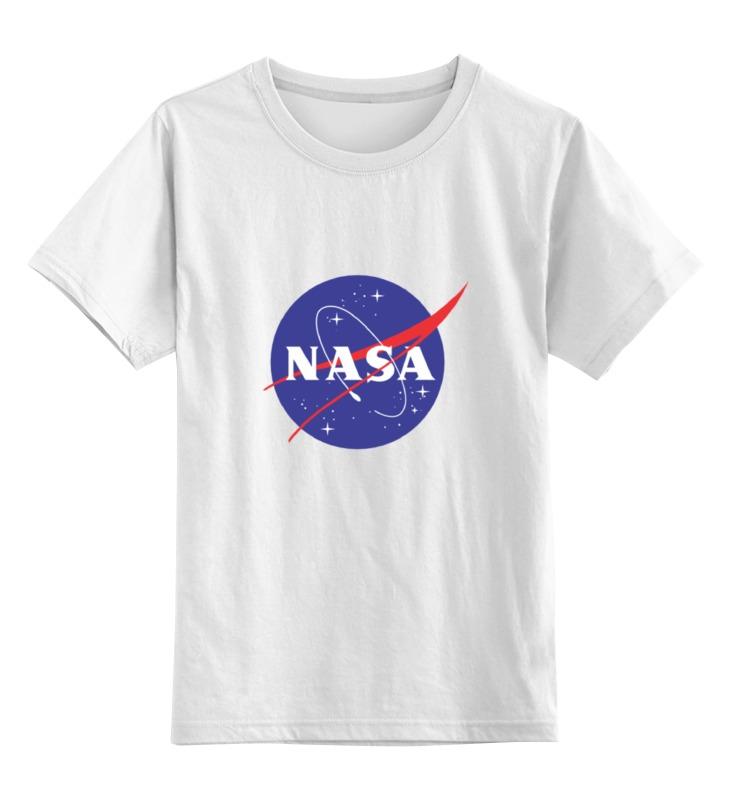 Детская футболка классическая унисекс Printio Nasa   наса