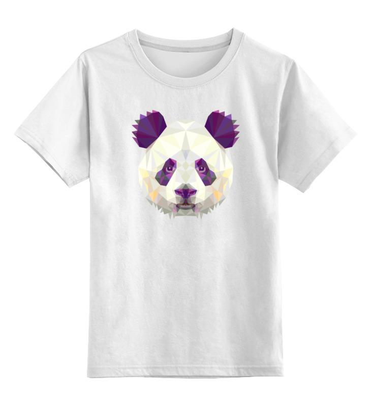 Детская футболка классическая унисекс Printio Полигональная панда детская футболка классическая унисекс printio король панда