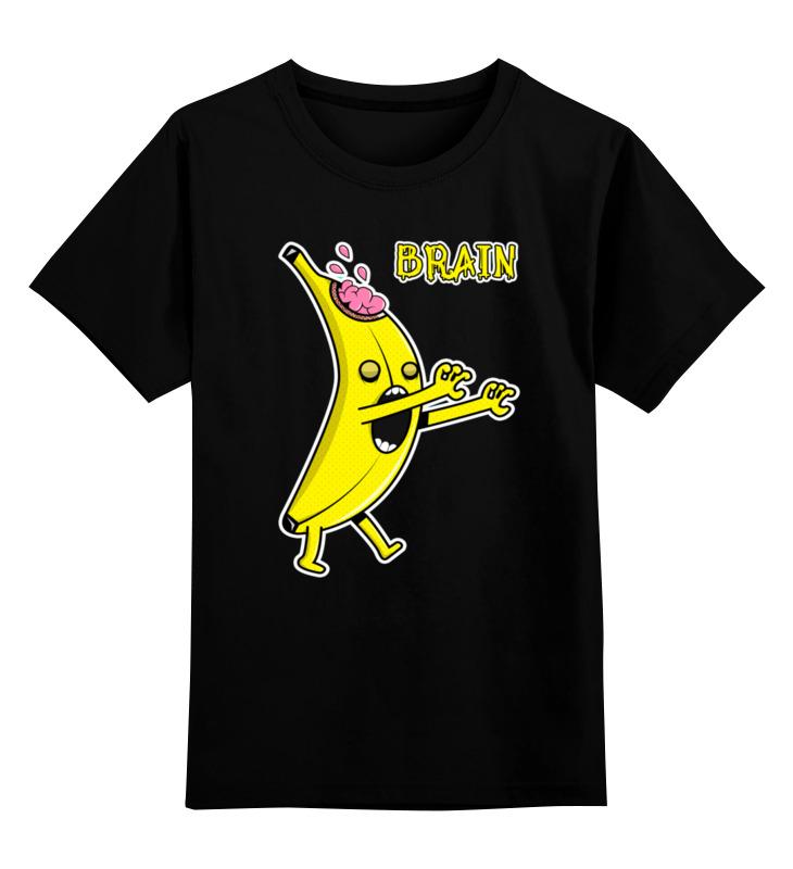Детская футболка классическая унисекс Printio Банан зомби цена