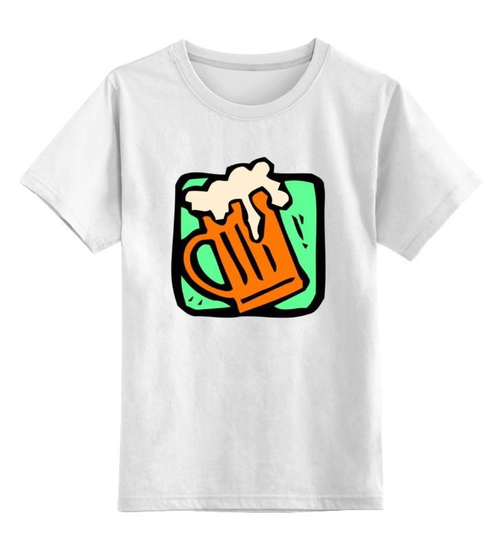 Детская футболка классическая унисекс Printio Алкоголь где ночью алкоголь дешево