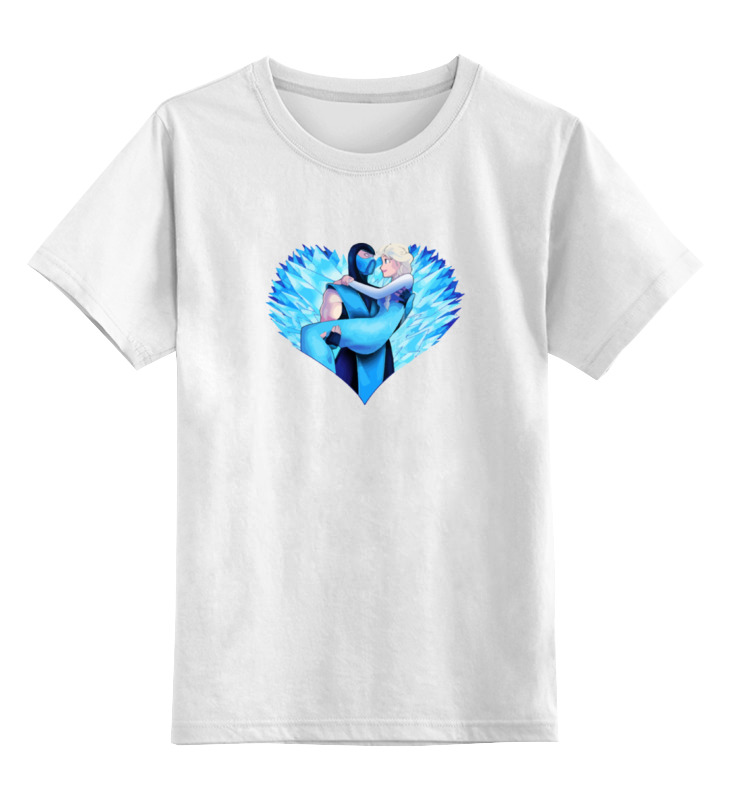 Детская футболка классическая унисекс Printio Саб-зиро и снежная королева (мортал комбат) лонгслив printio саб зиро и снежная королева мортал комбат