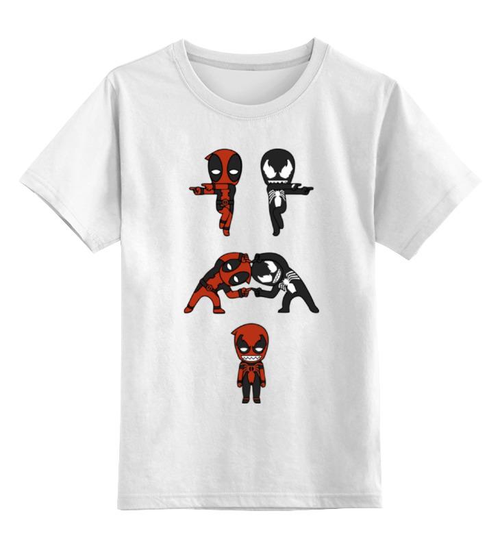 Детская футболка классическая унисекс Printio Дэдпул и веном сумка printio дэдпул и веном