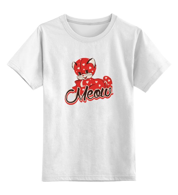 Детская футболка классическая унисекс Printio Котенок мяу детская футболка классическая унисекс printio мачете