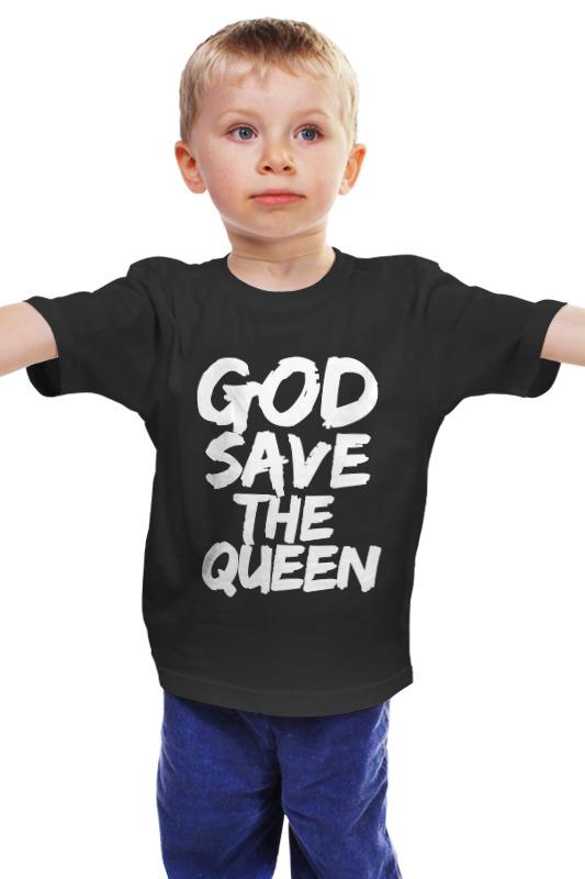 Детская футболка классическая унисекс Printio God save the queen (боже, храни королеву) save the queen ohdd повседневные брюки