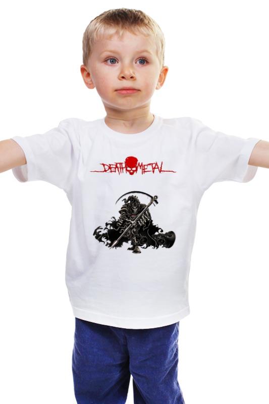 Детская футболка классическая унисекс Printio Death metal (смерть) детская футболка классическая унисекс printio death