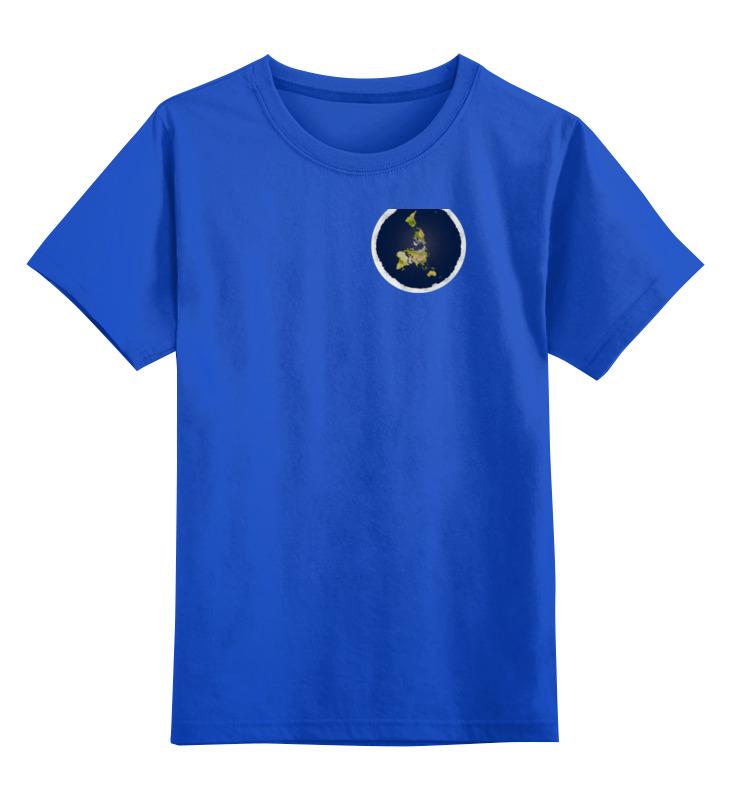 Детская футболка классическая унисекс Printio плоская земля (женская, синяя) андрей рехтин плоская земля вопросов больше нет