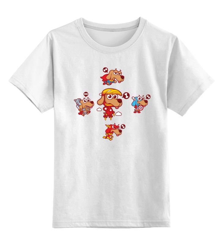 Детская футболка классическая унисекс Printio Собаки супергерои детская футболка классическая унисекс printio супергерои тор
