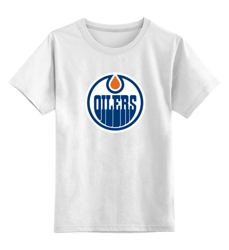Детская футболка классическая унисекс Printio Edmonton oilers / nhl canada а елисеева м закотина большая книга хороших манер для девочек