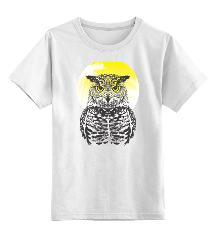 Детская футболка классическая унисекс Printio Солнечная сова лонгслив printio солнечная сова