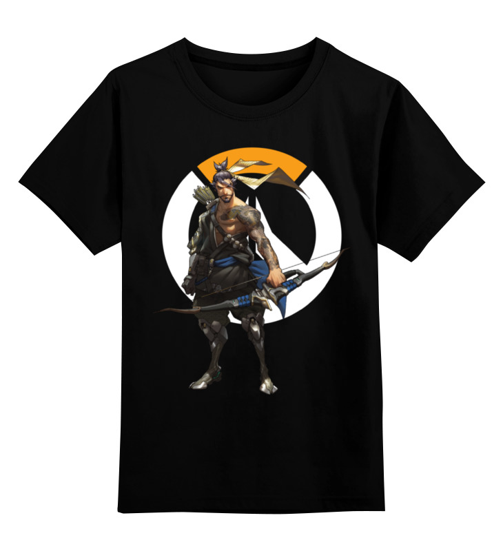 Детская футболка классическая унисекс Printio Overwatch hanzo / овервотч хандзо