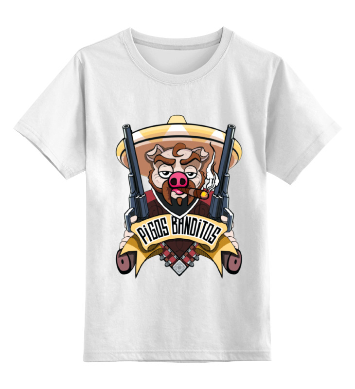 Детская футболка классическая унисекс Printio Pigos banditos майка классическая printio pigos banditos