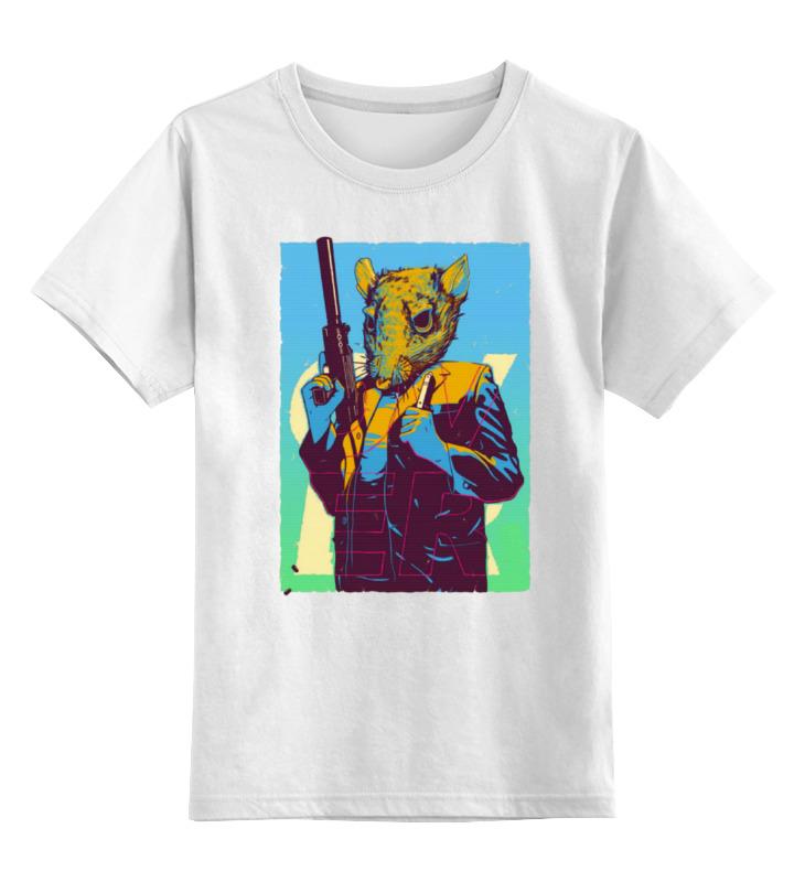 Детская футболка классическая унисекс Printio Крыса с пушкой толстовка wearcraft premium унисекс printio крыса с пушкой