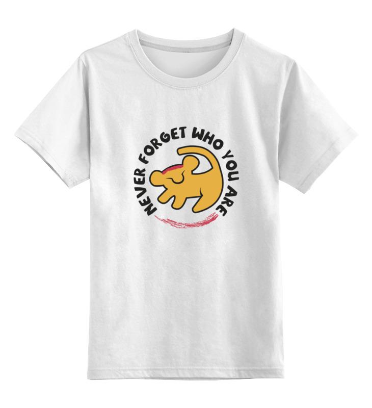 Детская футболка классическая унисекс Printio Симба (король лев) футболка рингер printio король лев the lion king