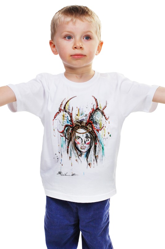 Детская футболка классическая унисекс Printio Индианка детская футболка классическая унисекс printio мачете