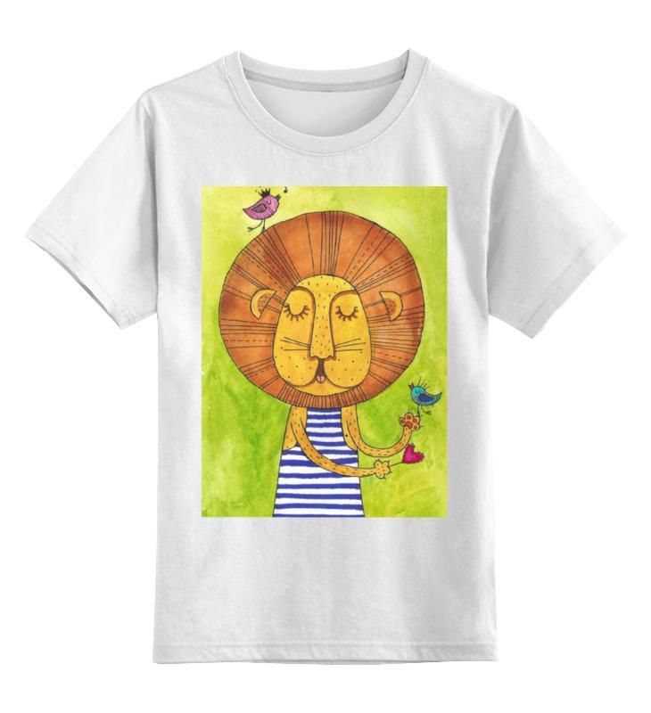 Детская футболка классическая унисекс Printio Лев бонифаций в тельняжке чехол для samsung galaxy s5 printio лев бонифаций в тельняжке