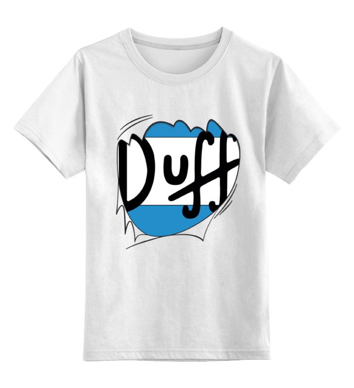 Детская футболка классическая унисекс Printio Пиво дафф (duff beer) киев подарочное пиво в наборе