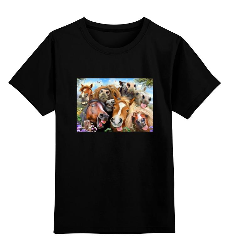 Детская футболка классическая унисекс Printio Сэлфи