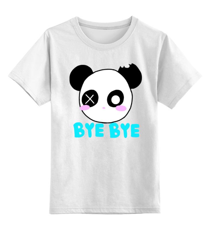 Детская футболка классическая унисекс Printio Панда бай бай бай му дан