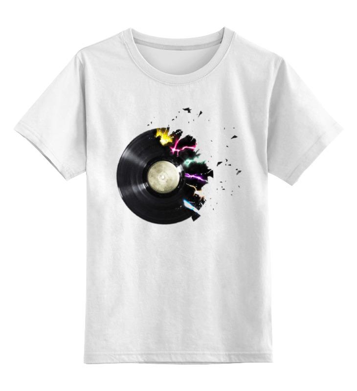Детская футболка классическая унисекс Printio Виниловая пластинка майка классическая printio виниловая пластинка