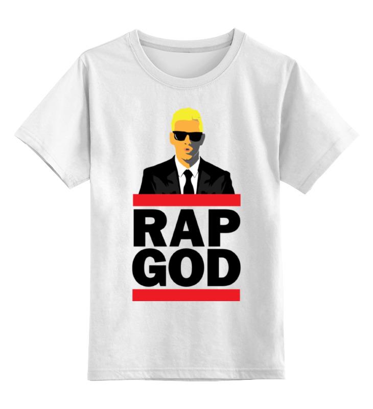 Детская футболка классическая унисекс Printio Эминем, бог рэпа цена