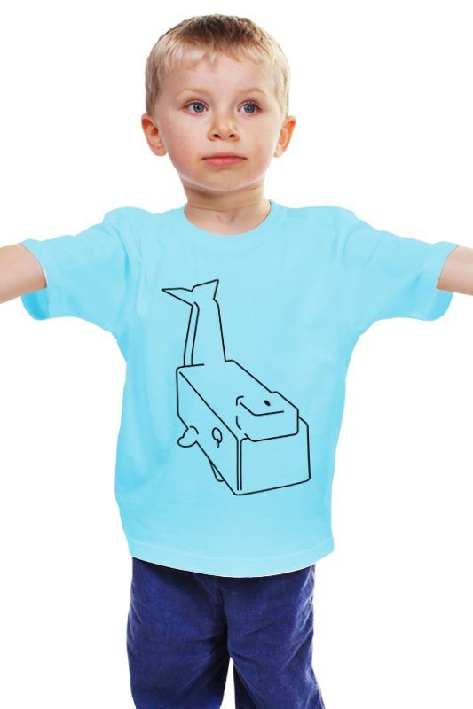 Детская футболка классическая унисекс Printio Моби дик (белый кит) издательство аст моби дик или белый кит