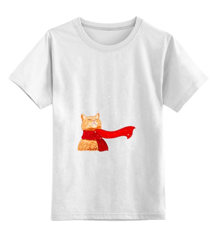 Детская футболка классическая унисекс Printio Рыжий кот цена и фото