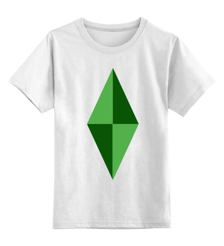 Детская футболка классическая унисекс Printio Кристал (симс)