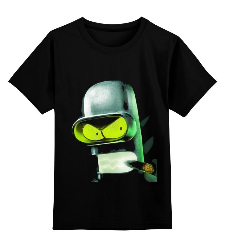 Детская футболка классическая унисекс Printio Bender