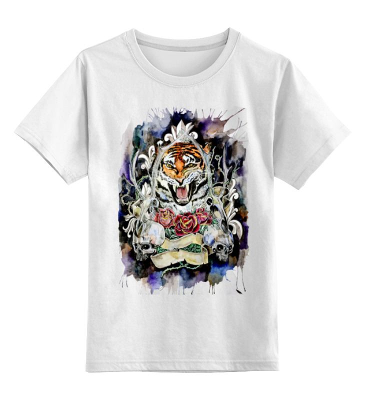 Детская футболка классическая унисекс Printio тигр old school детская футболка классическая унисекс printio anchor old school