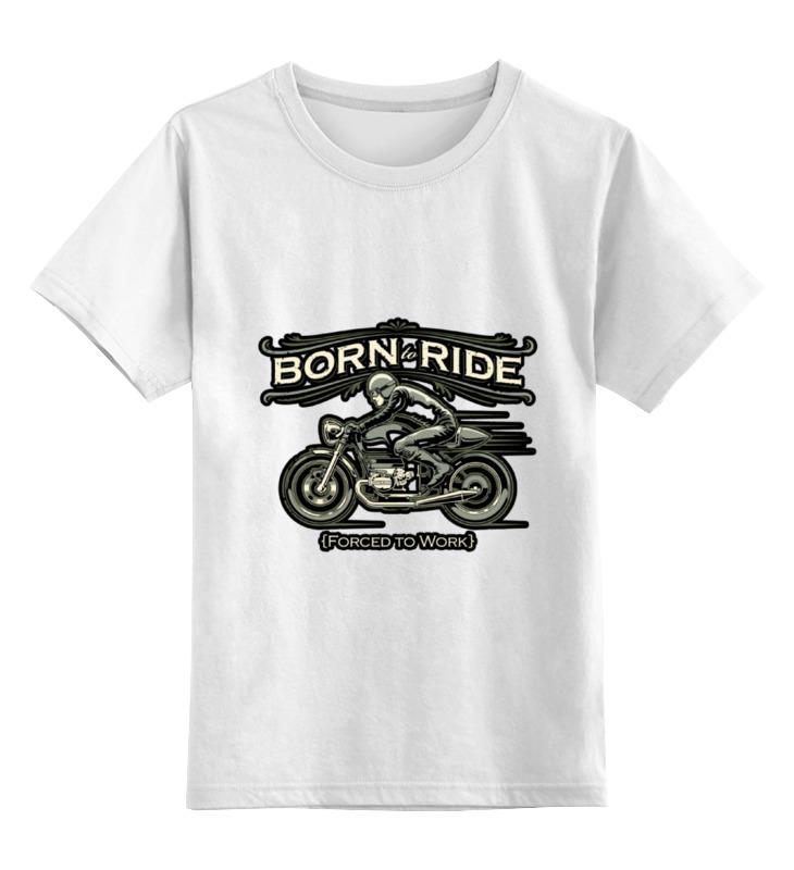 Детская футболка классическая унисекс Printio Botn to ride детская футболка классическая унисекс printio cafe racer born to ride