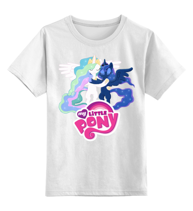 Детская футболка классическая унисекс Printio Мой маленький пони футболка print bar мой маленький мир