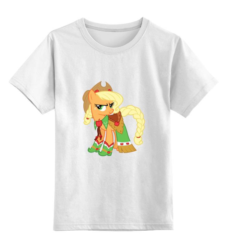 Детская футболка классическая унисекс Printio My little pony: applejack цена