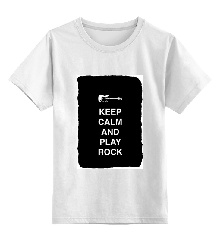 Детская футболка классическая унисекс Printio Keep calm and play rock