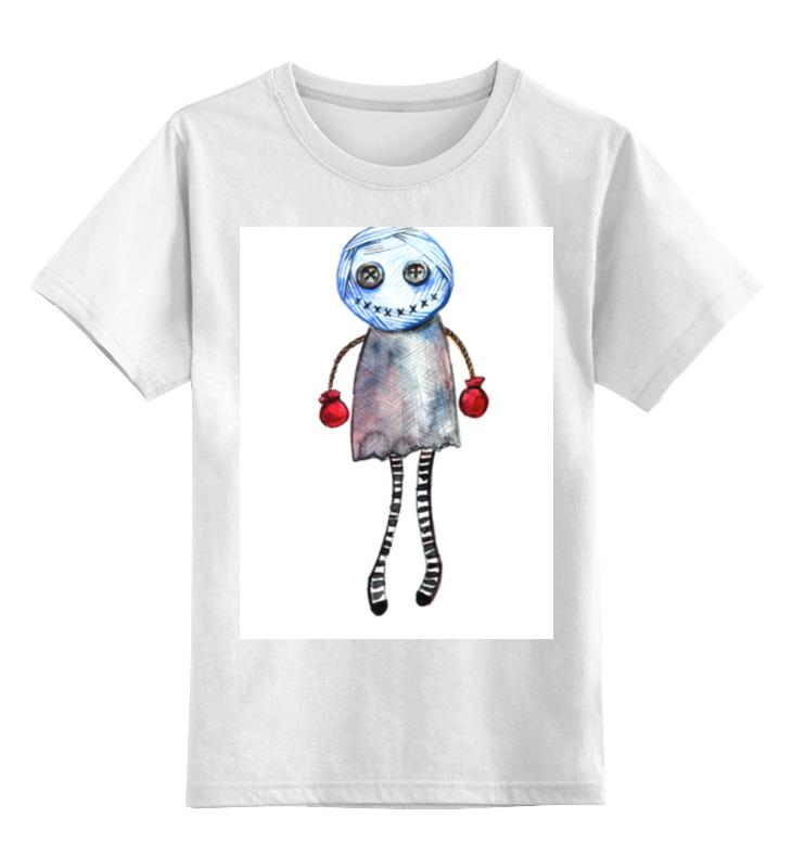 Детская футболка классическая унисекс Printio Человечек вуду цена