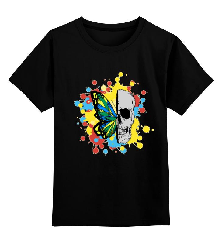 Детская футболка классическая унисекс Printio Череп и бабочка футболка классическая printio череп и бабочка