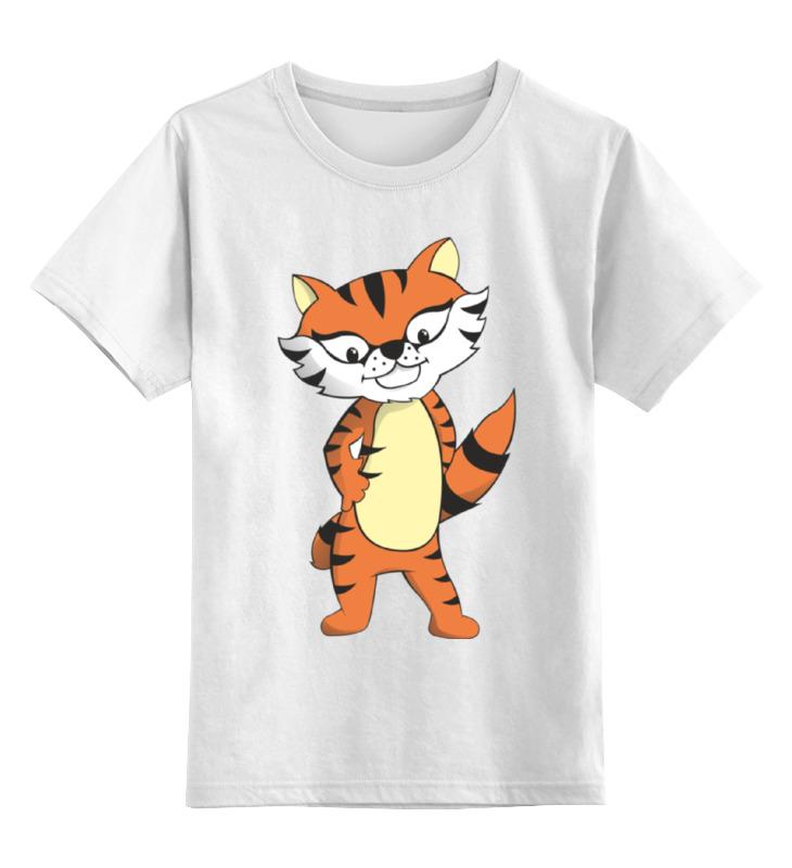 Детская футболка классическая унисекс Printio Тигренок белоснежка тигренок в джунглях