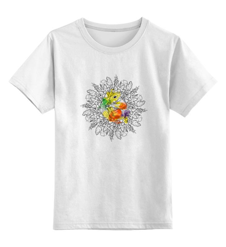 Детская футболка классическая унисекс Printio Мандала белка цена и фото
